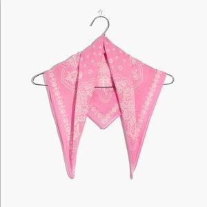 Madewell Washed Bandana Candy Pink